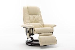 Krēsls regulaineris ar masāžas un sildīšanas funkciju NORE Alva, krēmkrāsas cena un informācija | Atpūtas krēsli | 220.lv