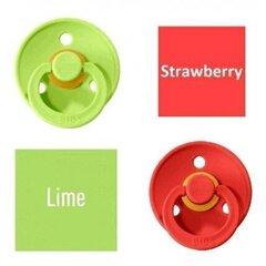 Knupītis BIBS 2 gab. Lime/ Strawberry 0- 6 mēn. cena un informācija | Knupīši | 220.lv