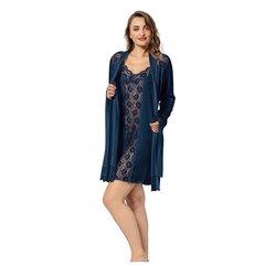 Komplekts ( halāts + naktskrēkls) Mariposa no bambusa šķiedru auduma cena un informācija | Sieviešu halāti | 220.lv
