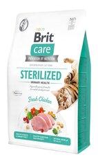 Brit Care bezgraudu barība sterilizētiem kaķiem, 2 kg cena un informācija | Sausā barība kaķiem | 220.lv