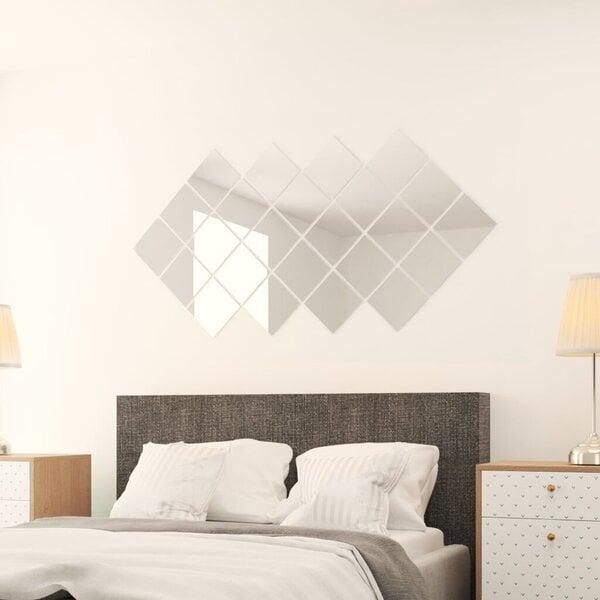 Spoguļa flīzes, 24 gab., kvadrāta forma, stikls internetā