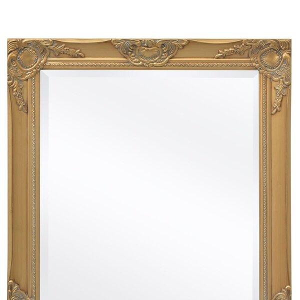 Sienas spogulis, baroka stils, 120x60 cm, zelta krāsa