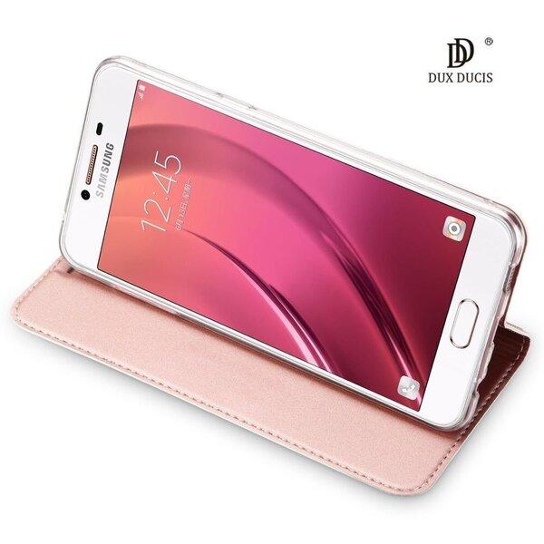 Dux Ducis Premium Magnet Case Grāmatveida Maks Telefonam Samsung A715 Galaxy A71 Rozā internetā