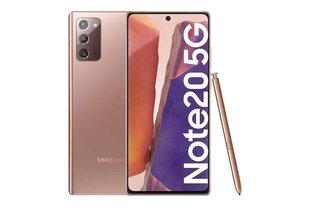 Samsung Galaxy Note 20 5G, 256GB, Dual SIM, Mystic Bronze цена и информация | Мобильные телефоны | 220.lv
