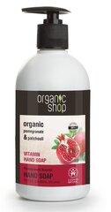 Šķidrās ziepes ar vitamīniem Organic Shop 500 ml cena un informācija | Ziepes | 220.lv