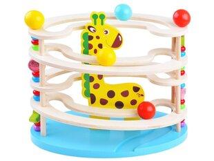 Koka žirafe bumbiņu trase cena un informācija | Koka žirafe bumbiņu trase | 220.lv