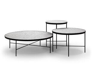 3-ju kafijas galdiņu komplekts Interieurs86 Orsay, pelēks/melns cena un informācija | Žurnālgaldiņi | 220.lv