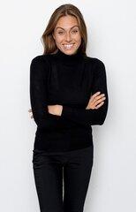 Zīda džemperis sievietēm 100272227, melns cena un informācija | Džemperi sievietēm | 220.lv