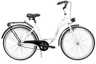 "Pilsētas velosipēds AZIMUT City Lux 26"" 2021, balts/melns cena un informācija | Pilsētas velosipēds AZIMUT City Lux 26"" 2021, balts/melns | 220.lv"