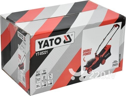 Akumulatora zāles pļāvējs YATO 36V=2X18V YT-85221 atsauksme