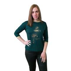 Sieviešu viskozes tops ar apdruku BRANCHESS, zaļš cena un informācija | Blūzes, sieviešu krekli | 220.lv