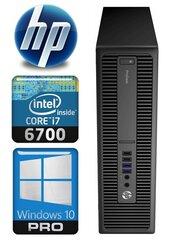 HP 600 G2 SFF i7-6700 32GB 960SSD+1TB WIN10Pro cena un informācija | HP 600 G2 SFF i7-6700 32GB 960SSD+1TB WIN10Pro | 220.lv