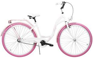 "Pilsētas velosipēds AZIMUT City Lux 28"" 2021, balts/rozā cena un informācija | Pilsētas velosipēds AZIMUT City Lux 28"" 2021, balts/rozā | 220.lv"