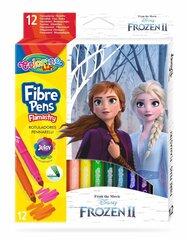 Nomazgājami flomāsteri Colorino Disney Frozen II, 12 krāsas cena un informācija | Nomazgājami flomāsteri Colorino Disney Frozen II, 12 krāsas | 220.lv
