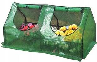 Siltumnīca-lecekts, zaļš 120x60x62 cm cena un informācija | Siltumnīcas | 220.lv