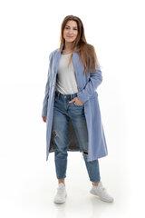 Sieviešu mētelis TM-collection, gaiši zilā krāsā 01-0348-T cena un informācija | Sieviešu mēteļi | 220.lv