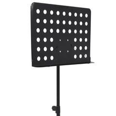 vidaXL nošu statīvs, melns tērauds cena un informācija | Mūzikas instrumentu piederumi | 220.lv