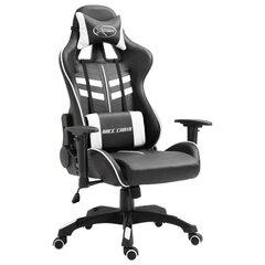 vidaXL datorspēļu krēsls, balta mākslīgā āda cena un informācija | Biroja krēsli | 220.lv