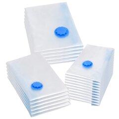 vidaXL vakuuma maisi apģērba glabāšanai, 3 izmēri, 20 gab. cena un informācija | Pakaramie un apģērbu maisi | 220.lv