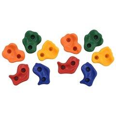 vidaXL kāpšanas sienas aizķeres, 10 gab., PE, daudzkrāsainas cena un informācija | Spēles brīvā dabā | 220.lv