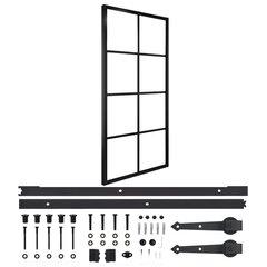 vidaXL bīdāmās durvis, alumīnijs un ESG stikls, 83x205 cm цена и информация | vidaXL bīdāmās durvis, alumīnijs un ESG stikls, 83x205 cm | 220.lv