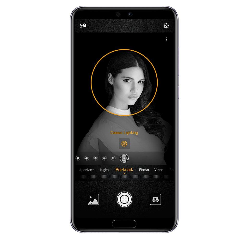 Huawei P20 Pro 3D portrait lighting feature