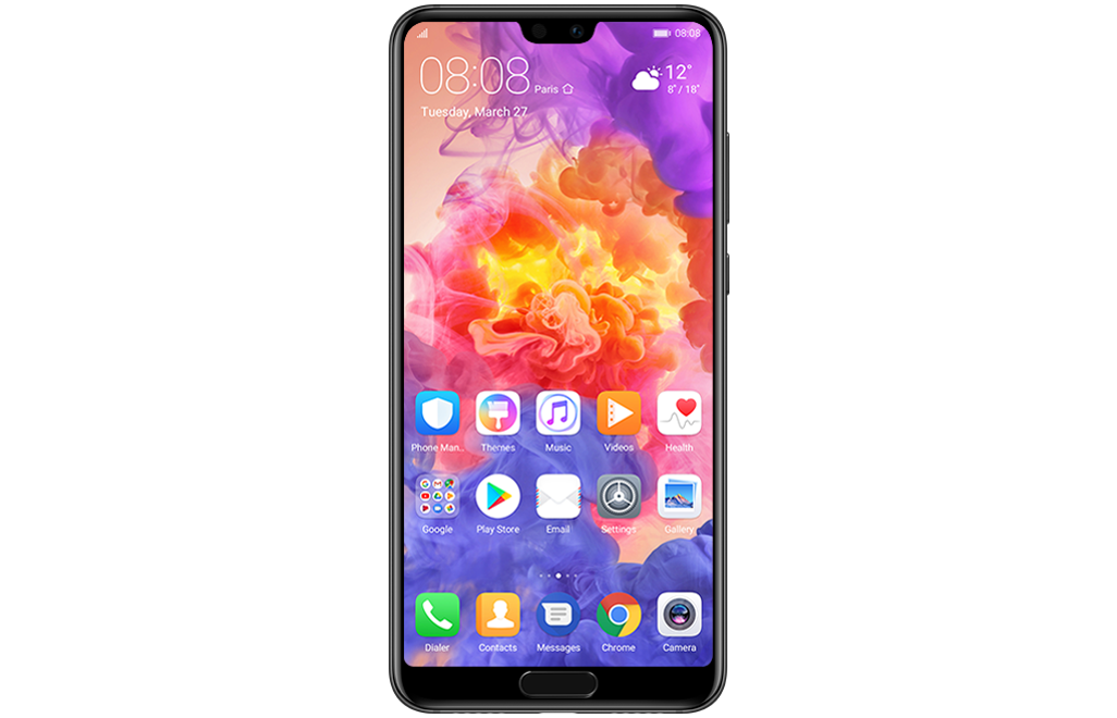 HUAWEI P20 fullview display ultra-thin bezels