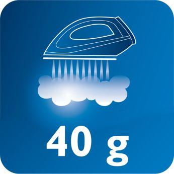 Tvaika plūsma līdz 40 g/min labākai kroku izlīdzināšanai
